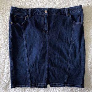 Caslon Denim Pencil Skirt